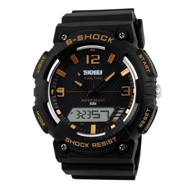 Relógio Masculino Skmei Anadigi 1057 PT-OU