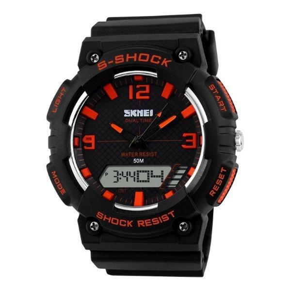 Relógio Masculino Skmei Anadigi 1057 PT-LR