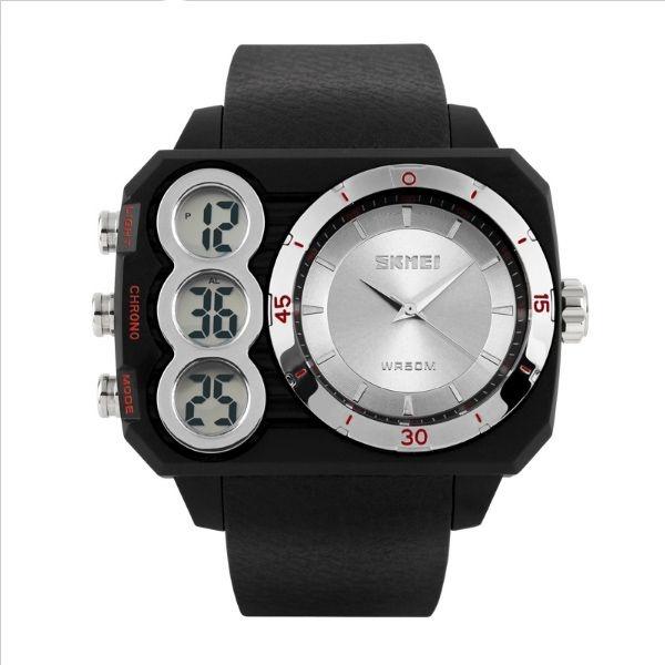 Relógio Masculino Skmei Anadigi 1090 Prata