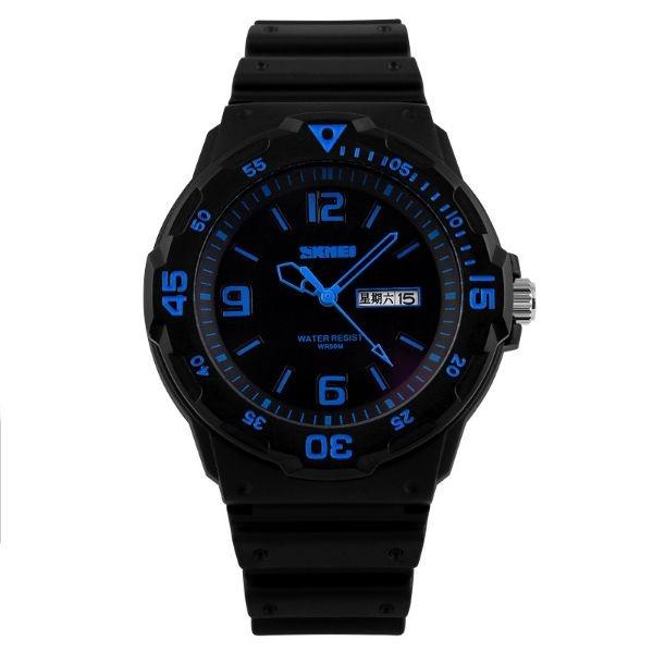 Relógio Masculino Skmei Analógico 1045 PT-AZ