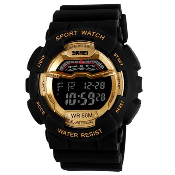Relógio Masculino Skmei Digital 1012 Preto e Dourado
