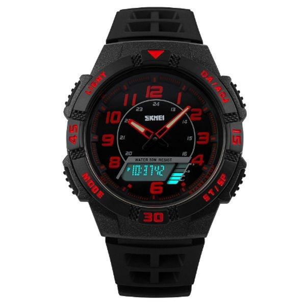 Relógio Masculino Skmei Anadigi 1065 PT-VM