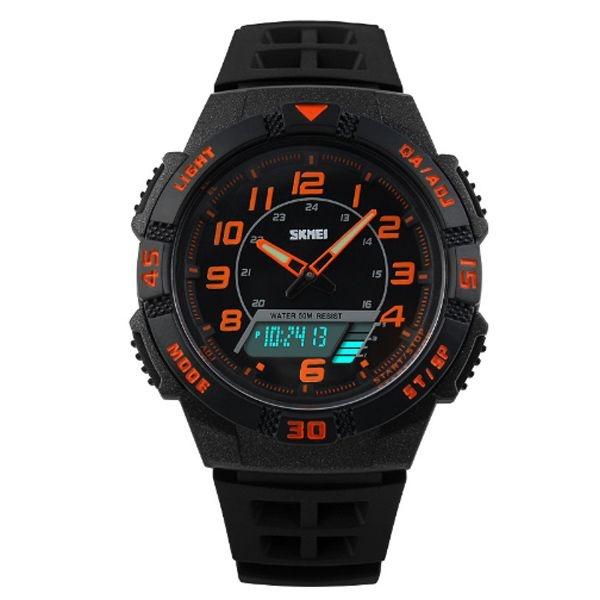 Relógio Masculino Skmei Anadigi 1065 PT-LR