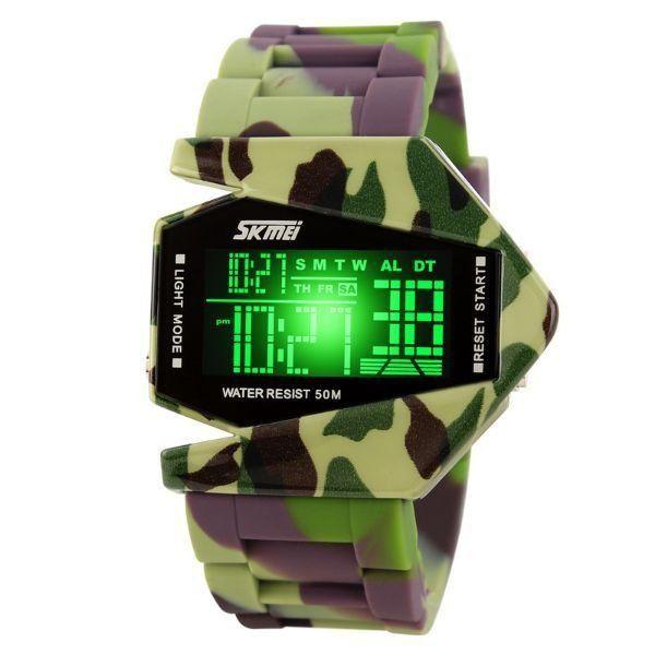 Relógio Masculino Skmei Digital 0817 Verde e Marrom