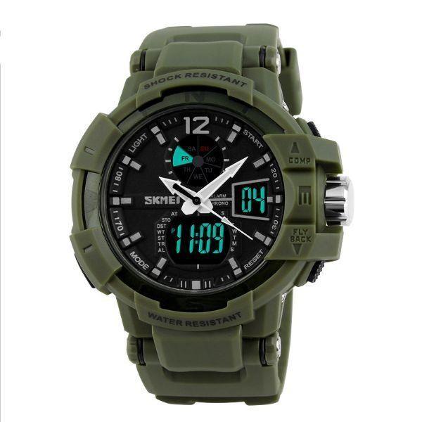 Relógio Masculino Skmei Anadigi 1040 Verde