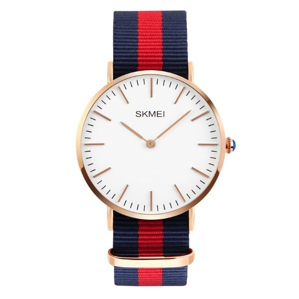 Relógio Masculino Skmei Analógico 1181 Azul e Vermelho