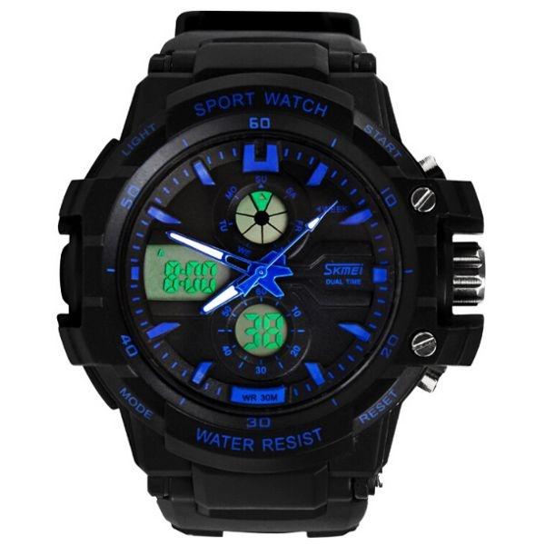Relógio Masculino Skmei AnaDigi 0990 - Preto e Azul