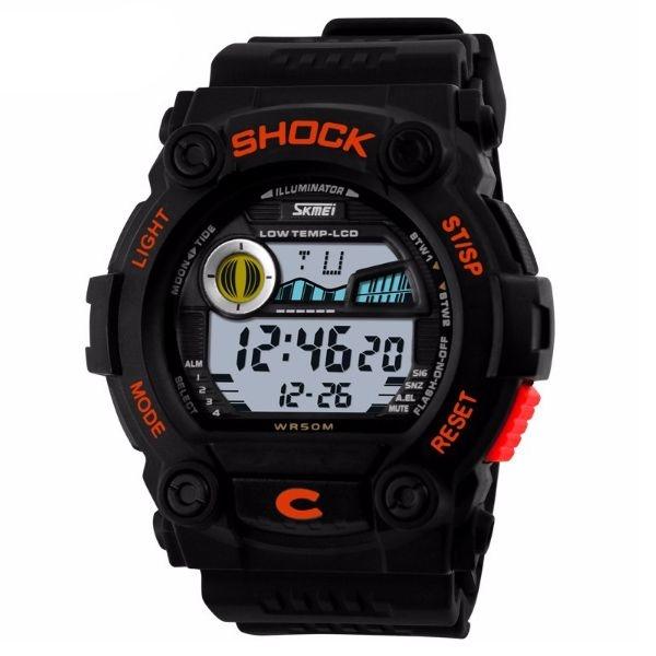 Relógio Masculino Skmei Digital 0907 PT-LR
