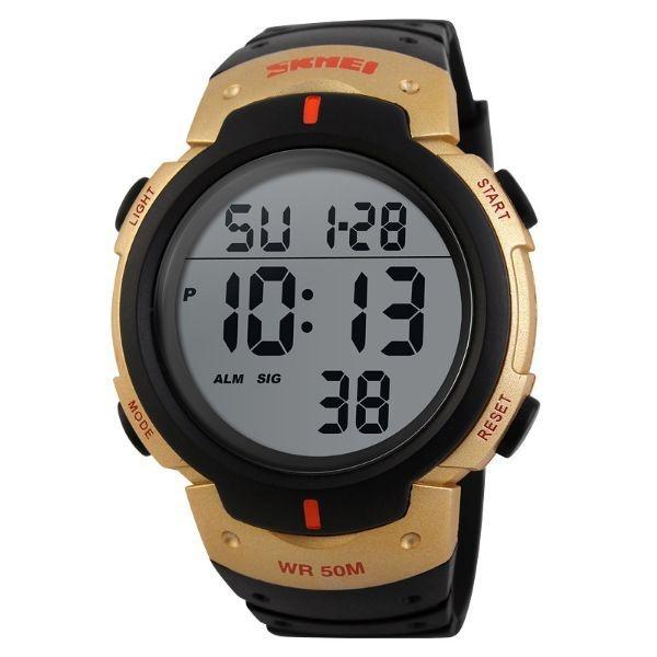 Relógio Masculino Skmei Digital 1068 Preto e Dourado