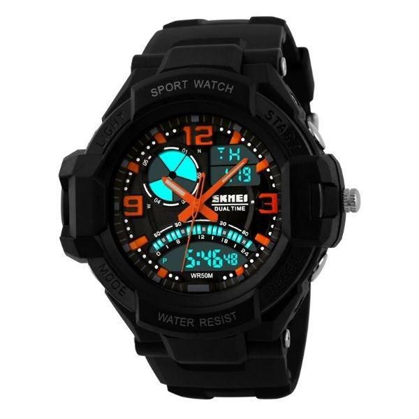 Relógio Masculino Skmei Anadigi 1017 PT-LR