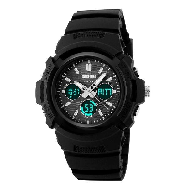 Relógio Masculino Skmei Anadigi 1149 PT-PR