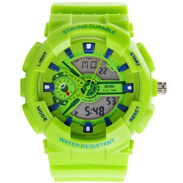 Relógio Masculino Skmei Anadigi 0929 Verde