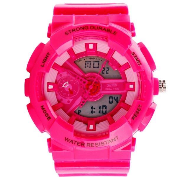 Relógio Feminino Skmei Anadigi 0929 Rosa