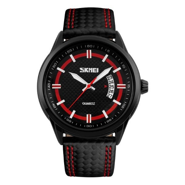 Relógio Masculino Skmei Analógico 9116 Preto e Vermelho
