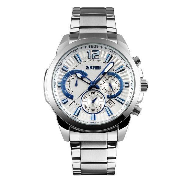 Relógio Masculino Skmei Analógico 9108 Prata