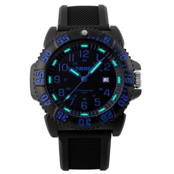 Relógio Masculino Skmei Analógico 1078 PT-AZ