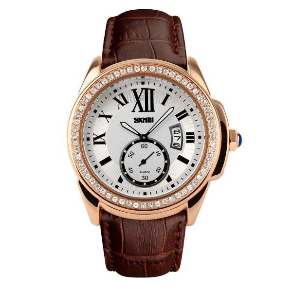 Relógio Feminino Skmei Analógico 1147 Marrom