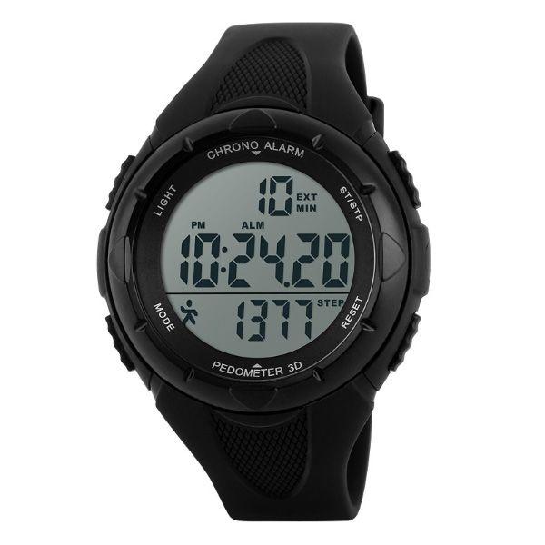 Relógio Pedômetro Masculino Skmei Digital 1108 Preto