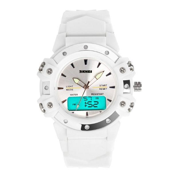 Relógio Feminino Skmei Anadigi 0821 Branco