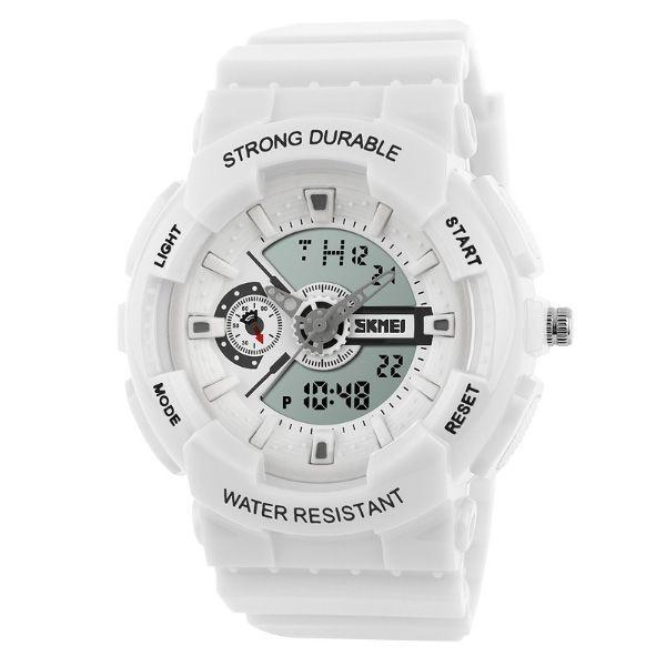 Relógio Infantil Skmei Anadigi 1052 Branco