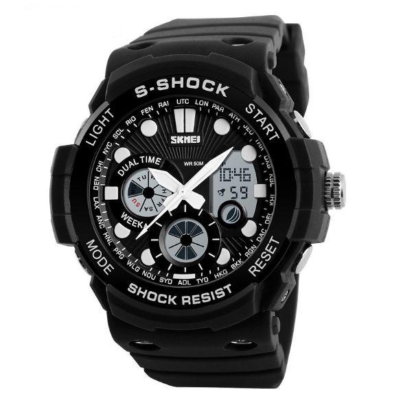 Relógio Masculino Skmei Anadigi 1205 PT