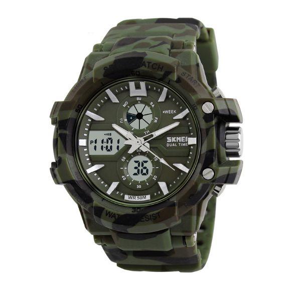 Relógio Masculino Skmei Anadigi 0990 Verde