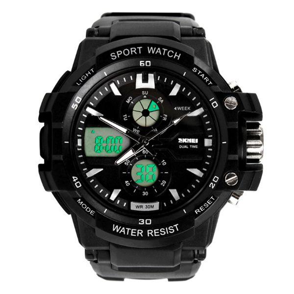 Relógio Infantil Skmei Anadigi 0990L Preto