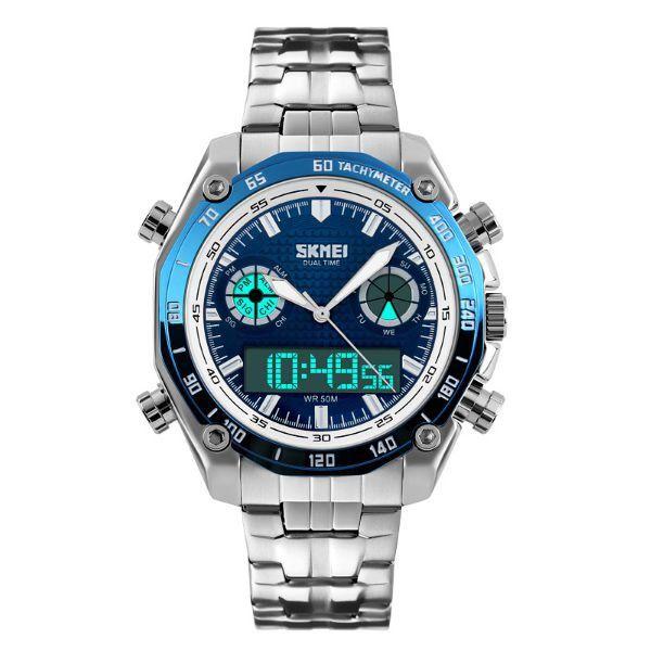 Relógio Masculino Skmei Anadigi 1204 Azul