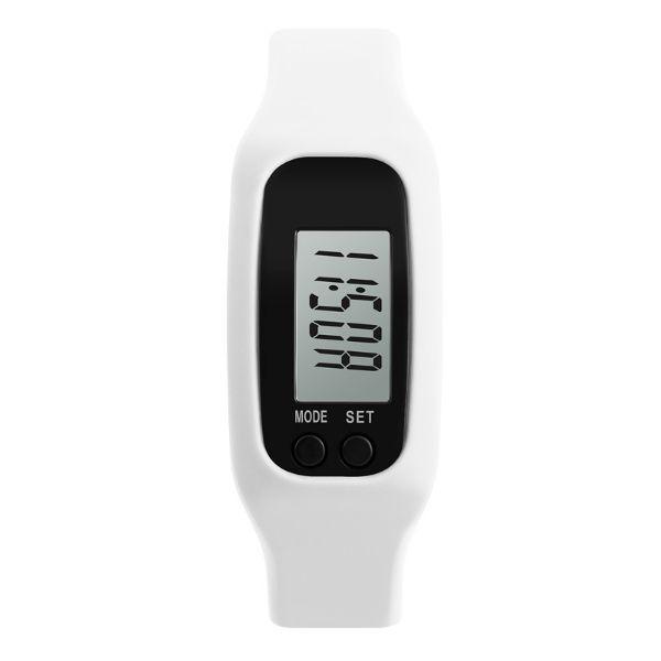 Relógio Pedômetro Masculino Skmei Digital 1207 Branco