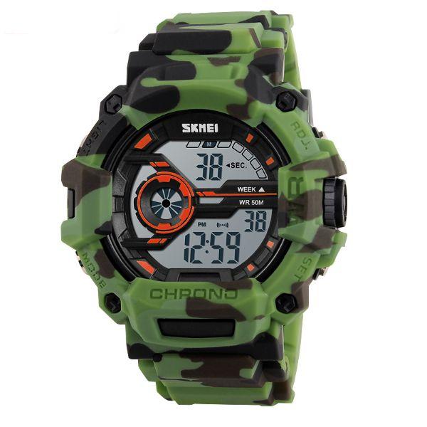 Relógio Masculino Skmei Digital 1233 Verde e Preto