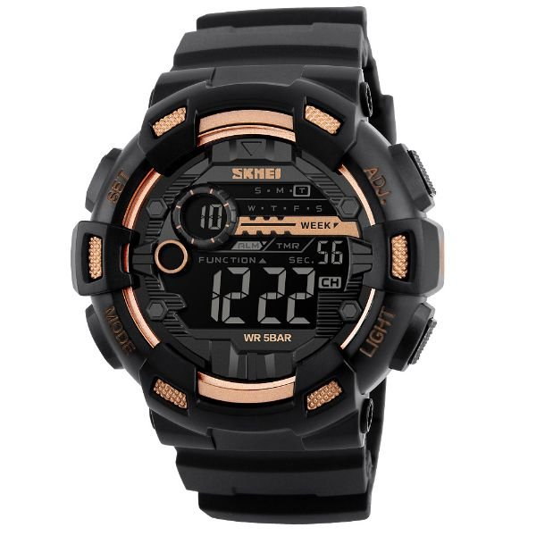 Relógio Masculino Skmei Digital 1243 Dourado