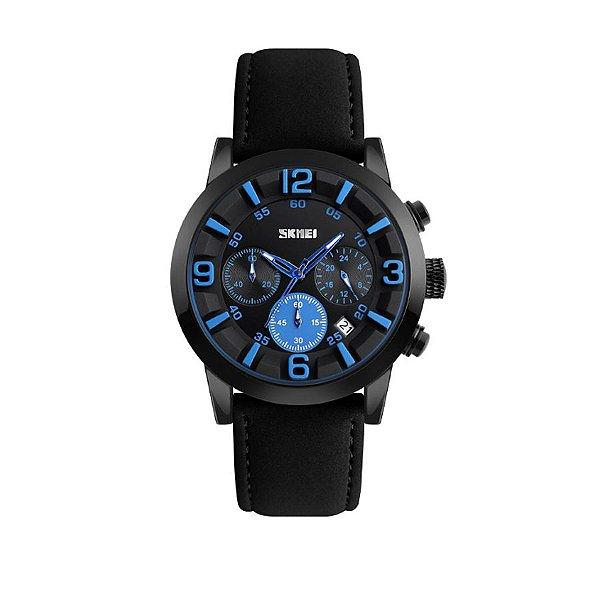 Relógio Masculino Skmei Analógico 9147 Azul
