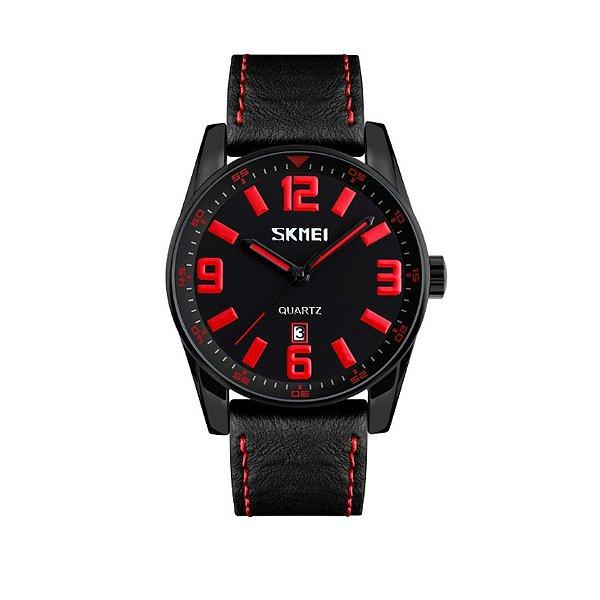 Relógio Masculino Skmei Analógico 9137 Vermelho