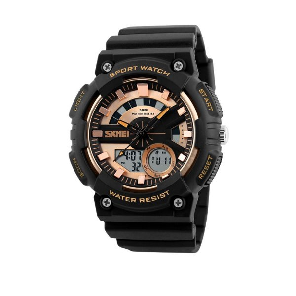 Relógio Masculino Skmei Anadigi 1235 Dourado