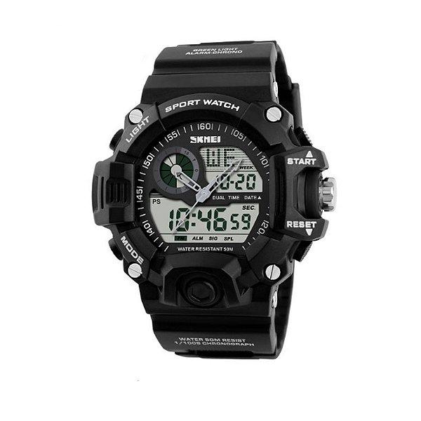 Relógio Masculino Skmei Anadigi 1029 Branco