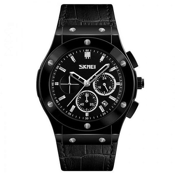 Relógio Masculino Skmei Analógico 9157 - Preto