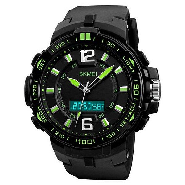 Relógio Masculino Skmei Anadigi 1273 - Preto e Verde