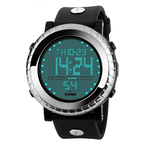 Relógio Masculino Skmei Digital 1172 - Preto e Prata