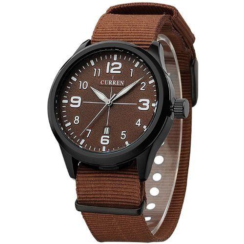 Relógio Masculino Curren Analógico 8195 Marrom e Preto