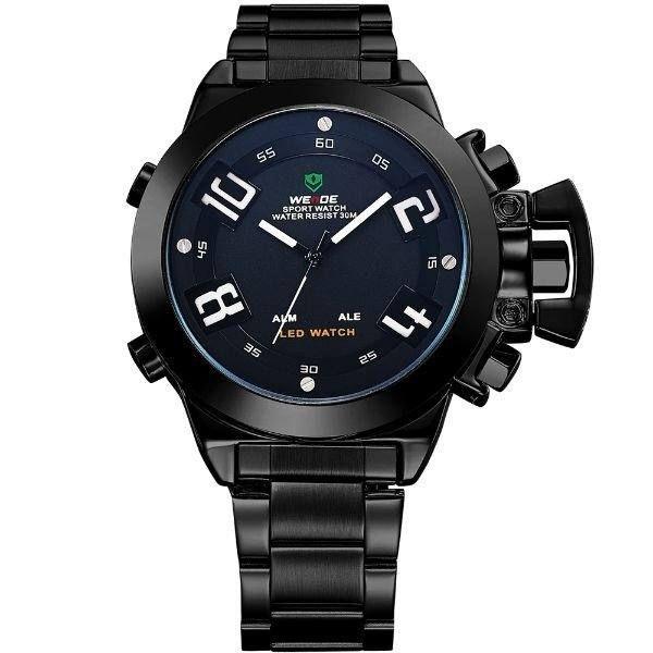 Relógio Masculino Weide Anadigi WH-1008 Preto e Branco