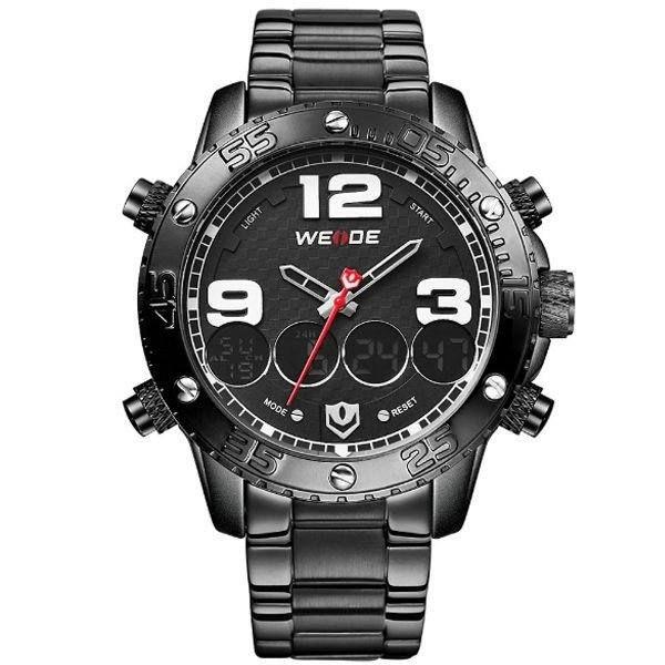 Relógio Masculino Weide Anadigi WH-3405 Preto