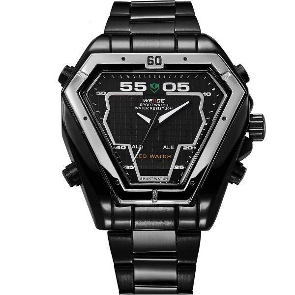 Relógio Masculino Weide Anadigi WH-1102 Preto