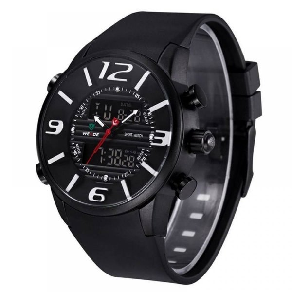 Relógio Masculino Weide AnaDigi Esporte WH-3402 Branco