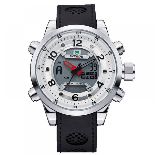 Relógio Masculino Weide AnaDigi Esporte WH-3315 Branco