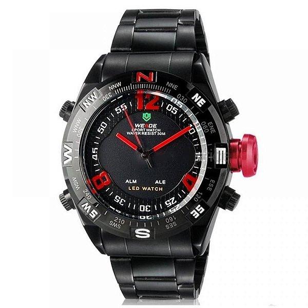 Relógio Masculino Weide AnaDigi Esporte WH-2310 Vermelho