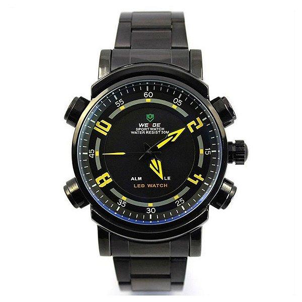 Relógio Masculino Weide AnaDigi Esporte WH-1101 Amarelo