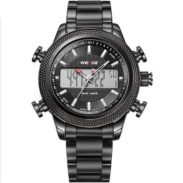 Relógio Masculino Weide Anadigi WH-3406 Preto