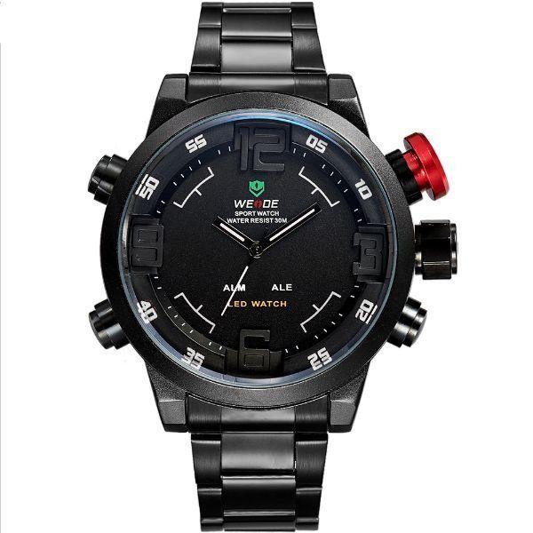 Relógio Masculino Weide Anadigi WH-2309 Preto e Branco