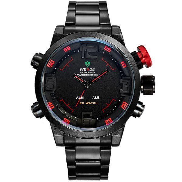 Relógio Masculino Weide AnaDigi Casual WH-2309B Vermelho