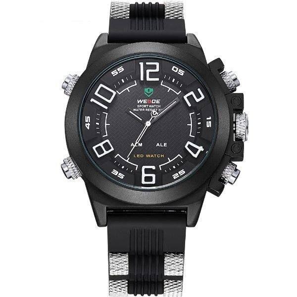 Relógio Masculino Weide Anadigi WH-5202 Preto e Branco